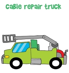 Cable repair truck vector
