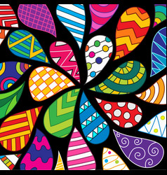 Colorful hand-drawn pattern vector