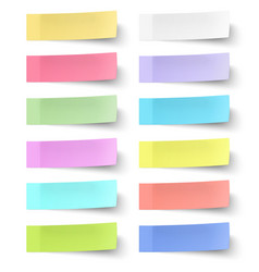 Colour sticky notes isolated on white background vector image