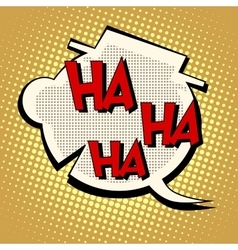 Comic bubble head laughter ha vector