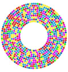 Confetti background vector