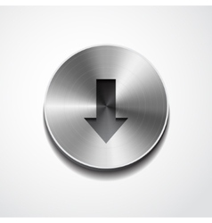Down sign on button isolated vector