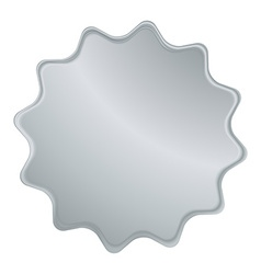 empty silver label that can be used as a seal the vector image vector image