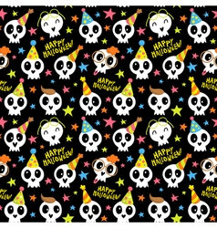Funny Halloween seamless pattern with bright vector image