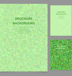 Green abstract rectangle mosaic brochure template vector