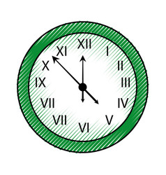 Happy new year clock countdown five minute time vector