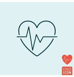 Heartbeat icon isolated vector image vector image