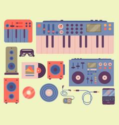 hip hop accessory musician instruments breakdance vector image vector image