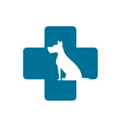 Isolated dog pet and cross design vector