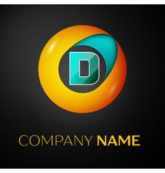 Letter D logo symbol in the colorful circle on vector image vector image