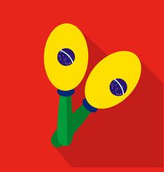 Maracas cartoon flat icon brazil vector