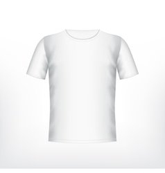 Mens white t-shirt vector image vector image