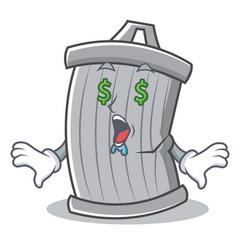 money eye trash character cartoon style vector image vector image