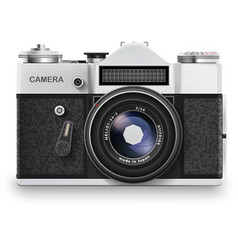 Old photo camera vector image