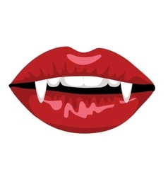 Red lips of vampire vector