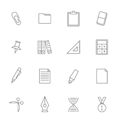School education outline icons vol 2 vector image