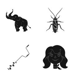 Scout history nature and other web icon in black vector