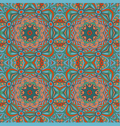 Seamless floral ethnic motives mandala zentangl vector
