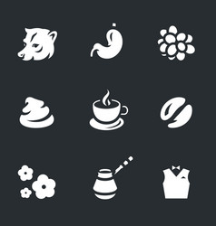 set of coffee luwak icons vector image