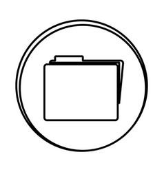 silhouette symbol file icon vector image