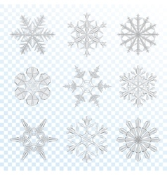 Snowflakes grey set vector
