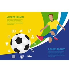 Soccer poster brasil template design vector image