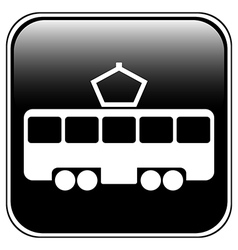 Tram button vector image