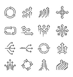 transition line icon set vector image vector image