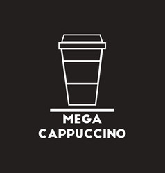 White icon on black background mega vector