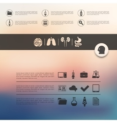 Medicine infographic with unfocused background vector