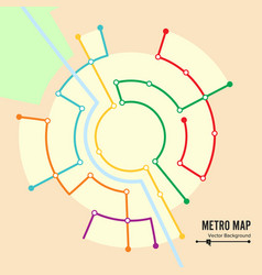 metro map  imaginary underground map vector image