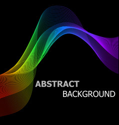 Abstract background with colorful lines wave vector