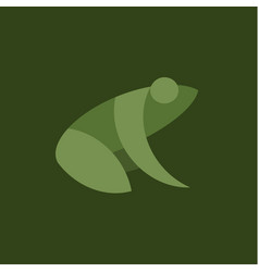Frog flat sign mark trend vector