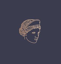 aphrodite logo vector image