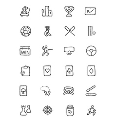 Sports hand drawn doodle icons 4 vector