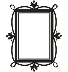 Cute doodle frame element for design vector