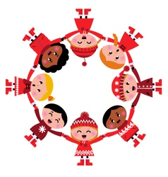 christmas kids vector image