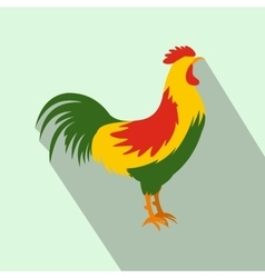 Cock icon flat style vector