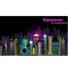 Vancouver canada skyline silhouette vector