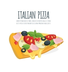 Italian pizza slice vector image