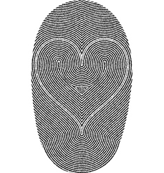 Fingerprints and heart vector