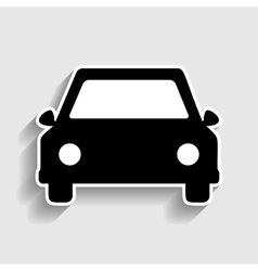 Car sign sticker style icon vector