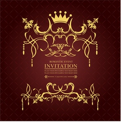 al 0809 invitation vector image