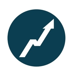 arrow up statistics icon vector image