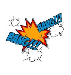 Bang-bang Comic style phrase vector image vector image