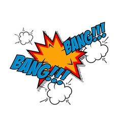 Bang-bang Comic style phrase vector image