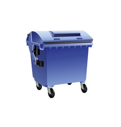 blue recycling container vector image vector image