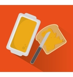 Bread and breakfast design vector