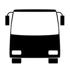 bus the black color icon vector image vector image