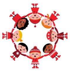 Christmas kids vector